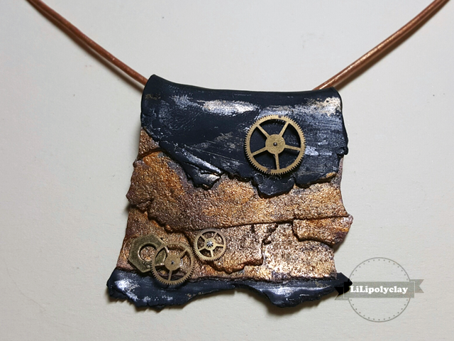 polymer clay rusted metal